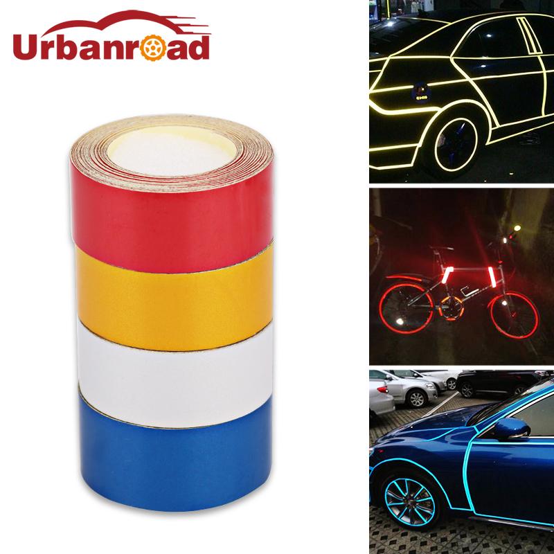 [해외]5m * 2cm 자동차 반사 필름 테이프 스티커 접착제 빨간 오토바이 반사 테이프 안전 경고 스티커 자동차 스타일링 자동차/5m*2cm Car Reflective Film Tape Stickers Adhesive Red Motorcycle Reflective T