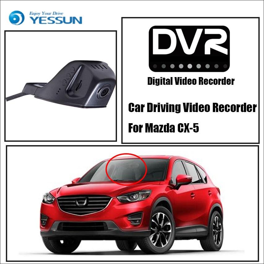 [해외]YESSUN / DVR 마즈다 CX-5 차량용 비디오 레코더 운전 앞 대시 카메라 CAM - iPhone 용? ? ???? ?? APP 제어 블랙 박스 기능/YESSUN / DVR Driving Video Recorder For Mazda CX-5 Car Fro