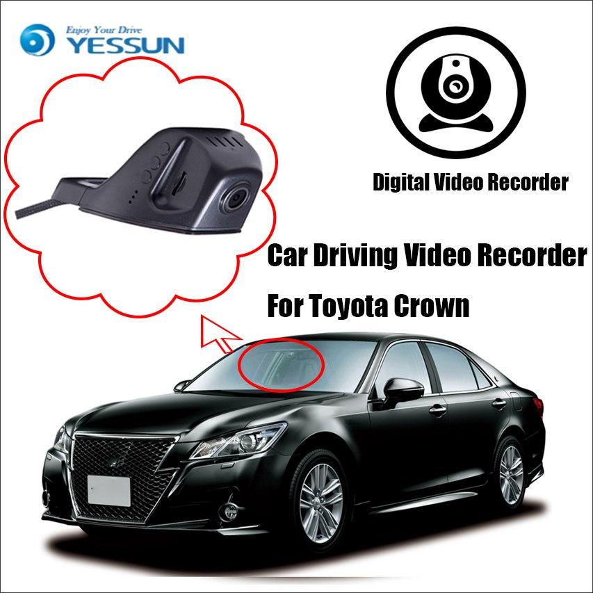 [해외]YESSUN 자동차 DVR 디지털 비디오 레코더 - 전면 카메라 대시 블랙 박스 HD 1080P 도요타 크라운 들어 아니 주차 카메라를 역방향/YESSUN Car DVR Digital Video Recorder  - Front Camera Dash  Black