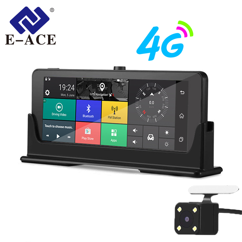 [해외]E-ACE 자동차 DVRs 4G GPS 네비게이션? ? ???? ?? Camara 7.0 인치 백미러 FHD 1080P 비디오 레코더 Wifi 블루투스 자동 Dashcam/E-ACE Car DVRs 4G GPS Navigation 안드로이드 Camara 7.0