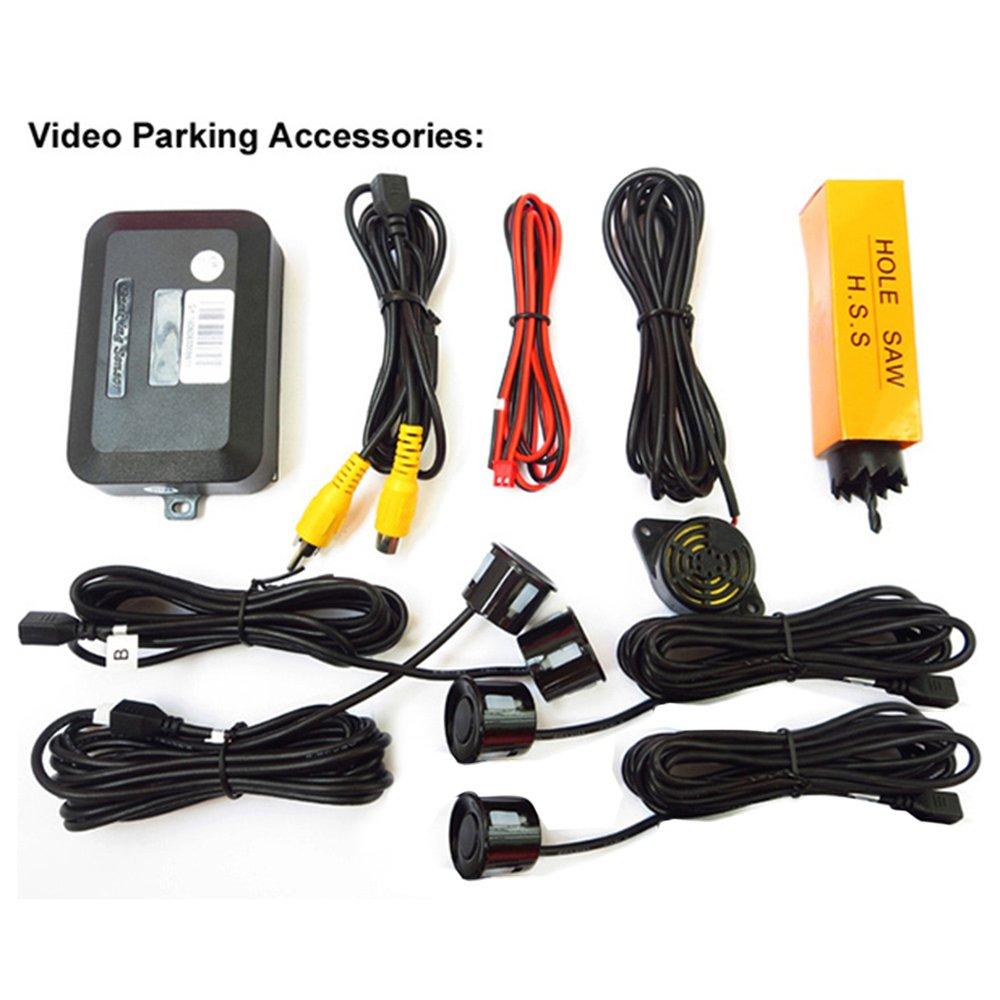 [해외]보편적 인 차 역방향 지원 비디오 주차 센서 스피커 카메라 야간 지능형 후방 레이더 시스템/Universal Car Reverse Assistance Video Parking SensorsSpeaker Camera Night Vision Intelligent R