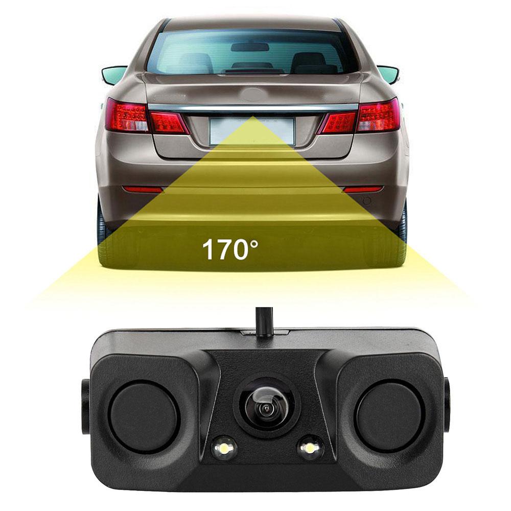 [해외]자동차 주차 센서 Parktronics 3 in1 야간 투시경 레이더 자동차 Reversing 백업 주차 카메라 키트/Car Parking Sensors Parktronics 3 in1 Night Vision Radar Autos Reversing Rearvie