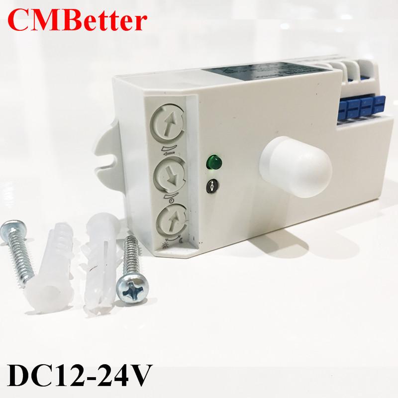 [해외]CMBetter 5.8GHz HF 시스템 LED 전자 레인지 360도 레이더 모션 센서 라이트 스위치 천장 조명 바디 모션 탐지기 DC12V-24V/CMBetter 5.8GHz HF System LED Microwave 360 Degree Radar motion