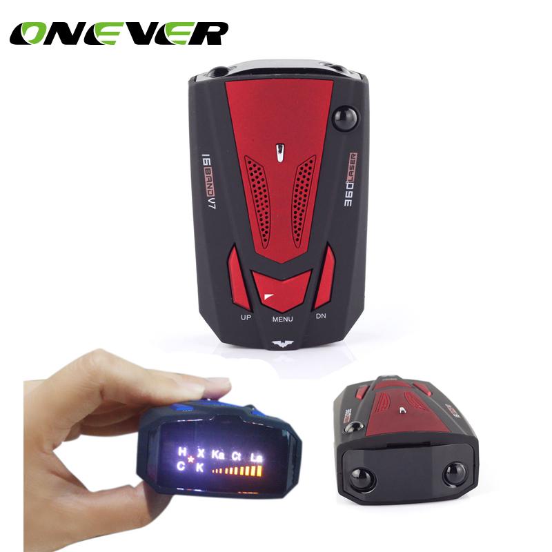 [해외]Onever 자동 16 밴드 GPS 자동차 레이더 탐지기 자동차 V7 X K NK 구 카 레이저 VG-2 속도 음성 경고 경고 LED 디스플레이 빨간색/Onever Auto 16 Band GPS Car Radar Detector for Car V7 X K NK