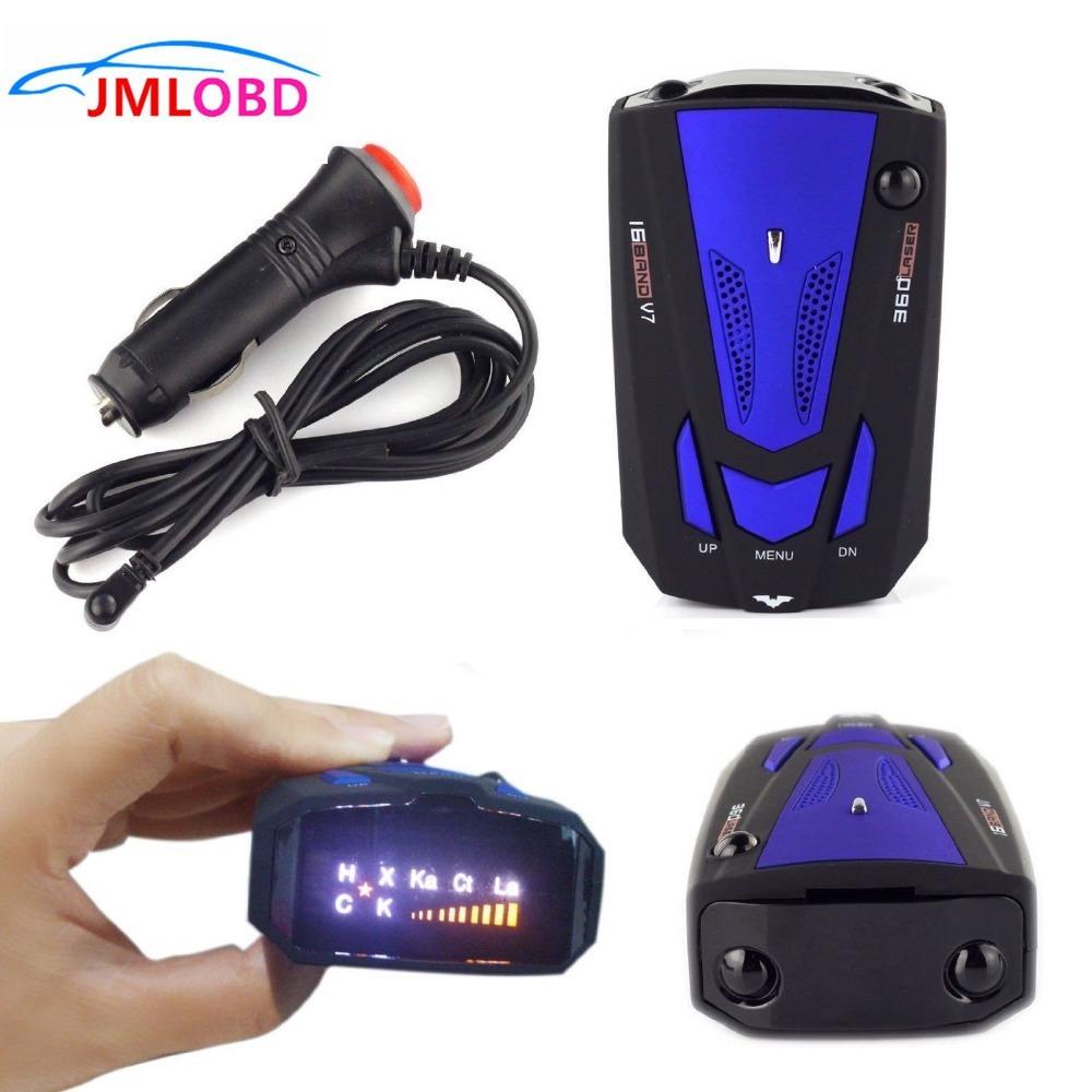 [해외]360도 자동차 레이더 탐지기 16 밴드 음성 경고 레이저 V7 보안 GPS 속도 레이더 탐지기 레이저 LED 디스플레이 와이어 레드 / 블루/360 Degrees Car Radar Detector 16 Band Voice Alert Laser V7 Securi
