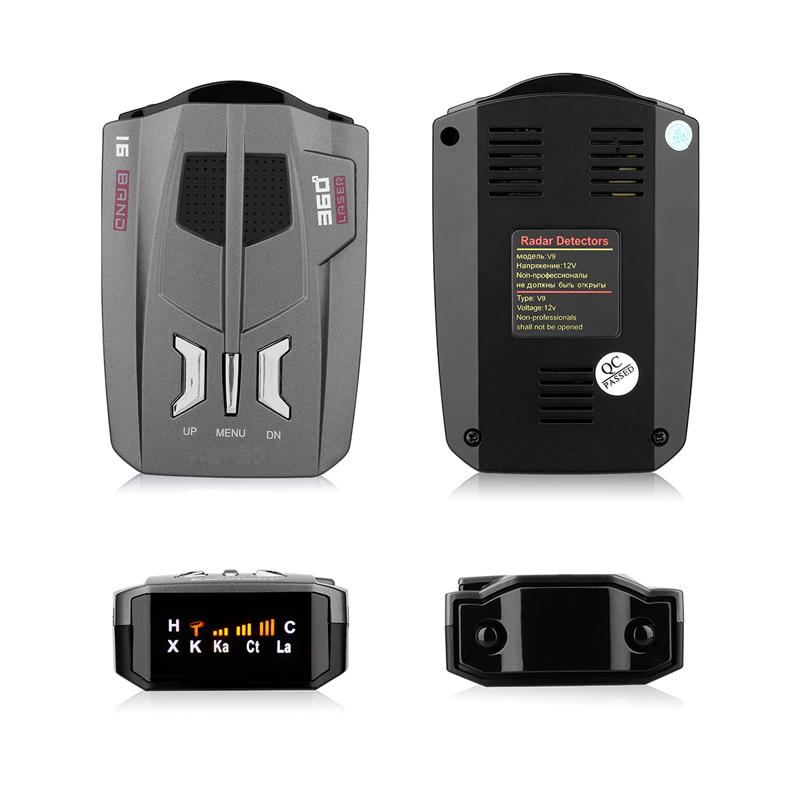 [해외]YASOKRO V9 차량 레이더 탐지기 (영어 / 러시아어) 360도 자동차 트럭 속도 센서 음성 경고 경고 16 밴드 LED 디스플레이/YASOKRO V9 Vehicle Radar Detector (English/Russian ) 360 Degree Car T