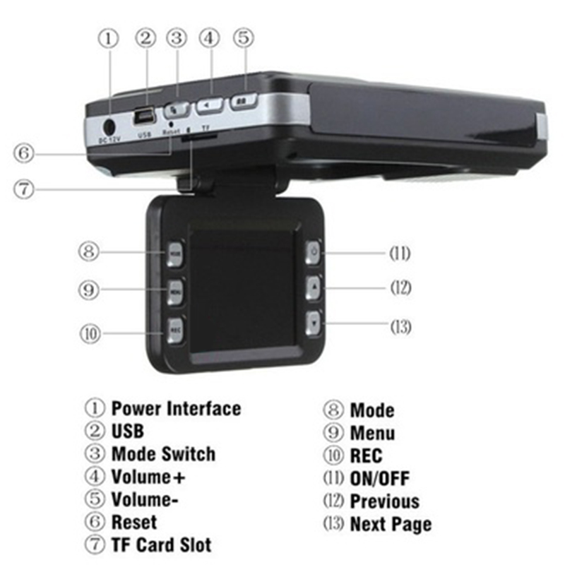 [해외]1 720p 차량용 레이저 자동차 카메라 레이더 비디오 레코더 음성 경고 경고 야간 투시경 내구성이 자동차 DVR Rocorder/2 in 1 720P Car Speed Laser Car Camera Radar Video Recorder Voice Alert W