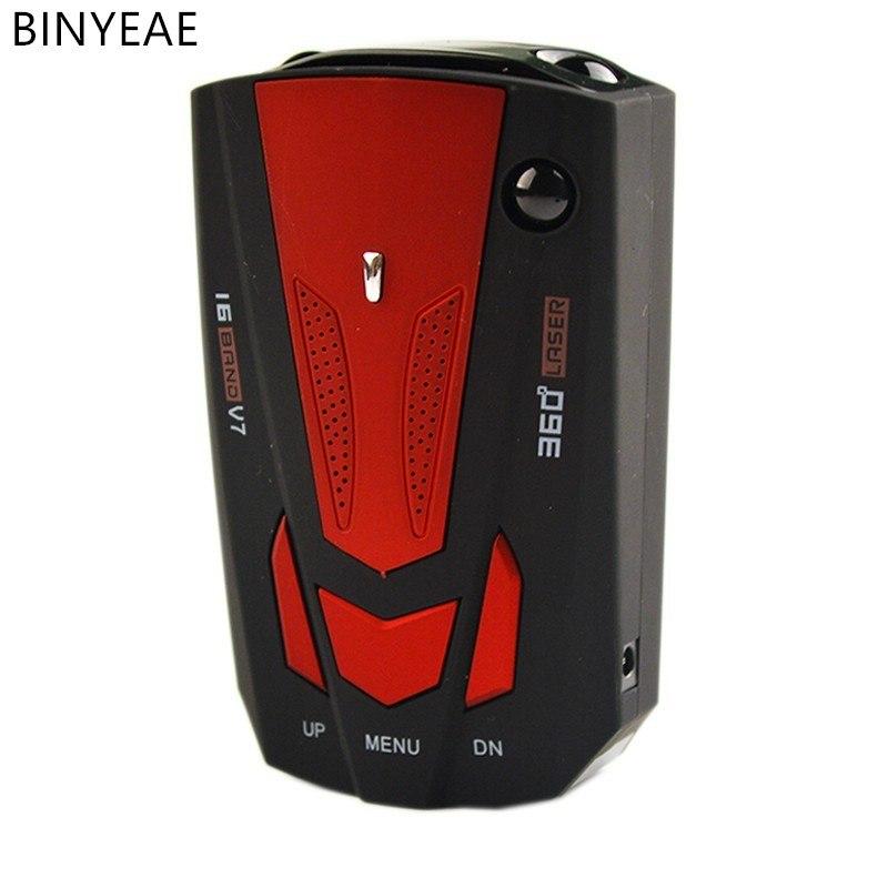 [해외]자동차 레이더 탐지기 러시아어 자동차 360도 차량 V7 속도 소리 경보 경고 16LED 디스플레이/Car radar detector English Russian car 360-degree vehicle V7 speed sound alarm warning 16L