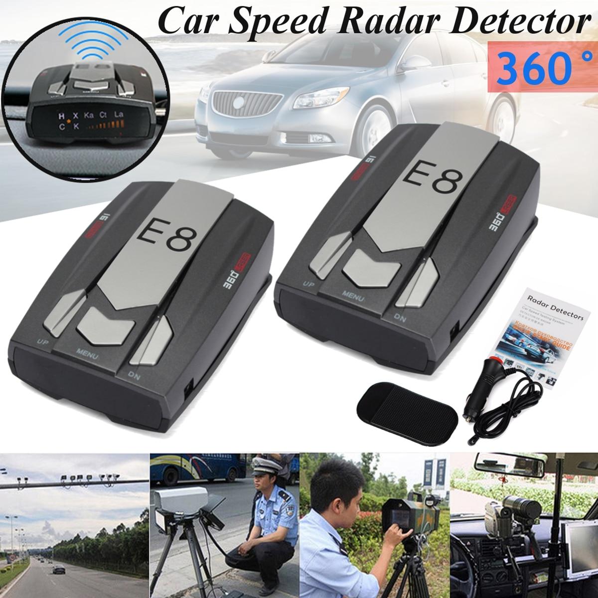 [해외]쌍 러시아 / 영어 음성 E8 자동차 레이더 탐지기 360도 LED 디스플레이 경고 경고 안티 레이더 감지기/Pair Russia / English Voice E8 Car Radar Detector 360 Degrees LED Display Alert Warni