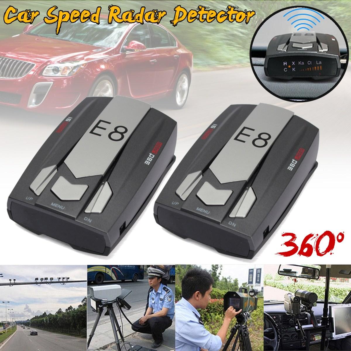 [해외]쌍 E8 자동차 레이더 탐지기 360도 LED 디스플레이 경고 경고 안티 레이더 감지기 러시아 / 영어 음성/Pair E8 Car Radar Detector 360 Degrees LED Display Alert Warning Anti Radar Detectors