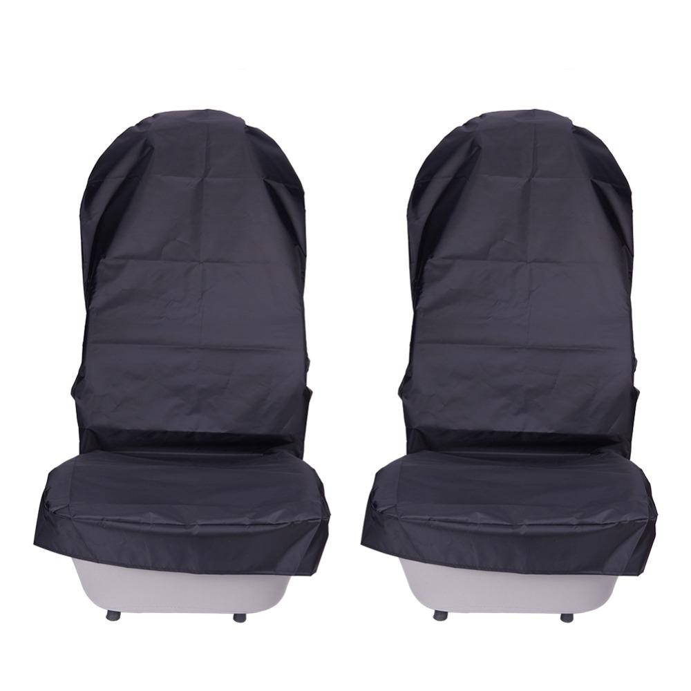 [해외]방수 카시트 커버 옥스포드 헝겊 자동차 앞 좌석 커버 프로텍터 패드 2 개 세트 내구성 자동차 인테리어 액세서리/Waterproof Car Seat Covers Oxford Cloth Automobile Front Seat Cover Protector Pads
