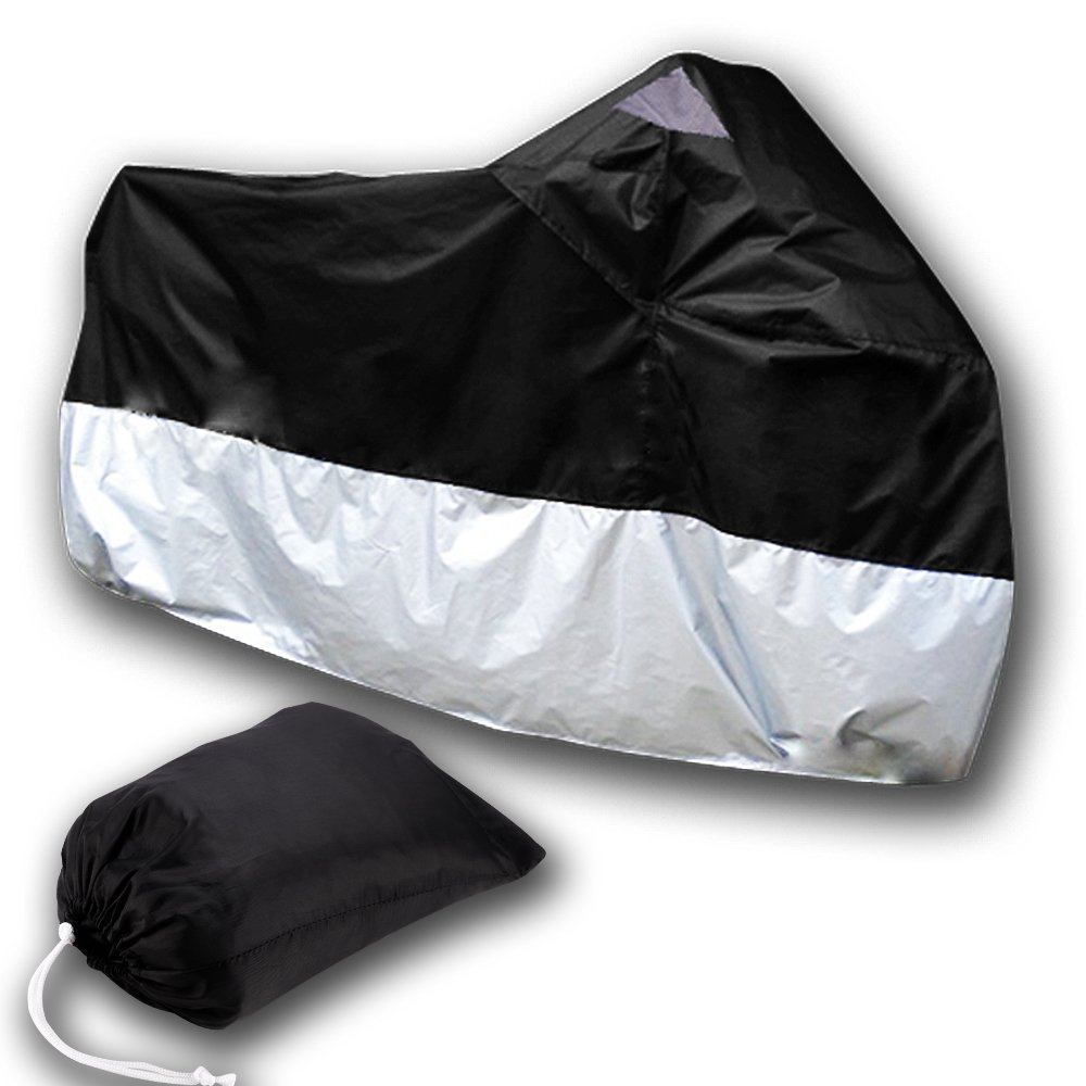 [해외]AUTO TARP COVER MOTO 오토바이 커버 스쿠터 ATV 245cm XL 블랙 실버 보호/AUTO TARP COVER MOTO Motorcycle Cover scooter bike ATV 245cm Size XL black silver protectio