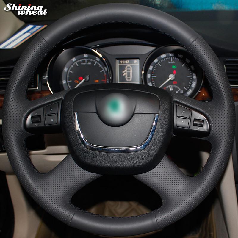 <span style=''>[해외]빛나는 밀 Skoda에 대한  가죽 조향 휠 커버 Octavia Octavia a5..</span>