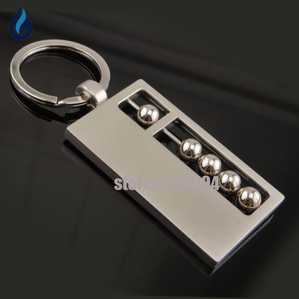 [해외]크리 에이 티브 3D 금속 Abacus 키 체인 Vw Passat B5 B6 포드 포커스 2 자동차 키 링 닛산 도요타 Corolla 푸조 키 체인 Keyring/Creative 3D Metal Abacus Key Chain Car Key Ring For Vw
