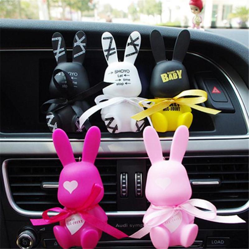[해외]MR TEA 공기 청자동차 향수 견고한 만화 동물 사랑스러운 나비 넥타이 토끼 크리 에이 티브 향수 공기 출구 Freshener/MR TEA Air Freshener car Perfume solid cartoon animals lovely bow tie rabb