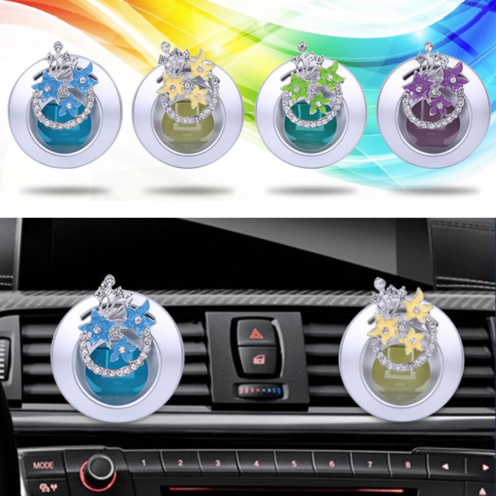 [해외]자동차 향수 클립 꽃 향기 공기 청정기 통풍구 자동 인테리어 아울렛 액세서리 트림 디퓨저 장식 장식품/Car Perfume Clip Flower Fragrance Air Freshener Vent Auto Interior Outlet Accessories Tri