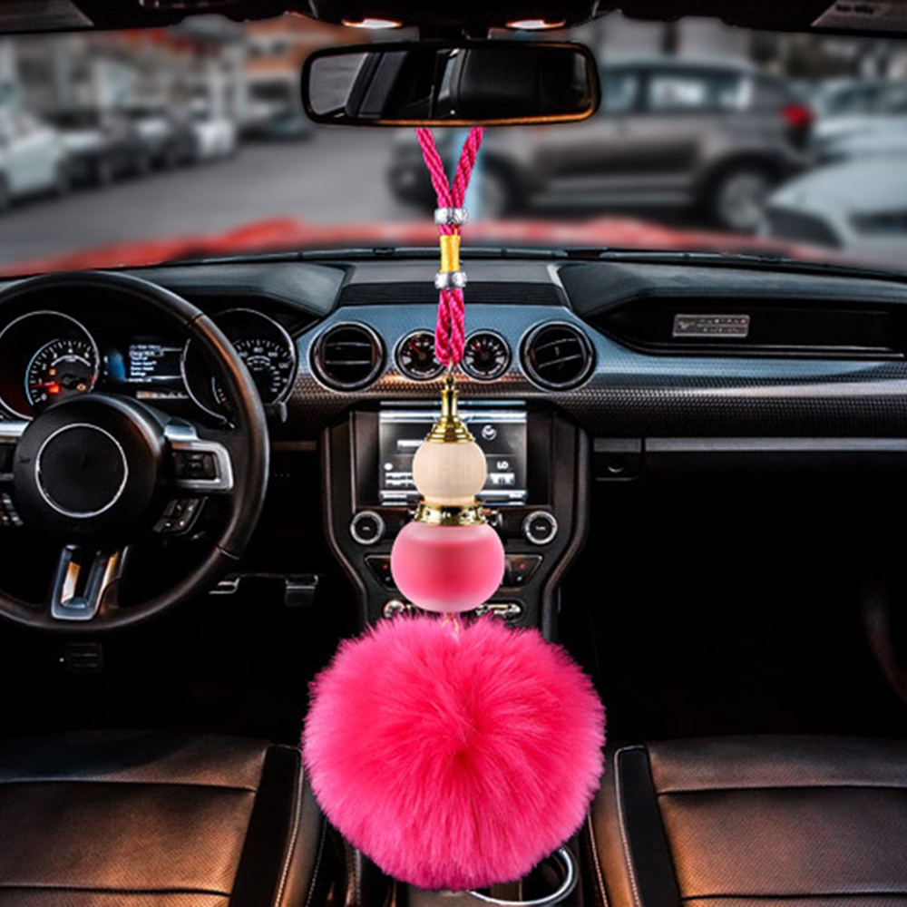 [해외]자동차 향수 펜던트 조롱박 향기 플러시 공기 청정기 자동 백미러 미러 트림 장식 빈 병 트림 액세서리 선물/Car Perfume Pendant Gourd Fragrance Plush Air Freshener Auto Rearview Mirror Trim Deco