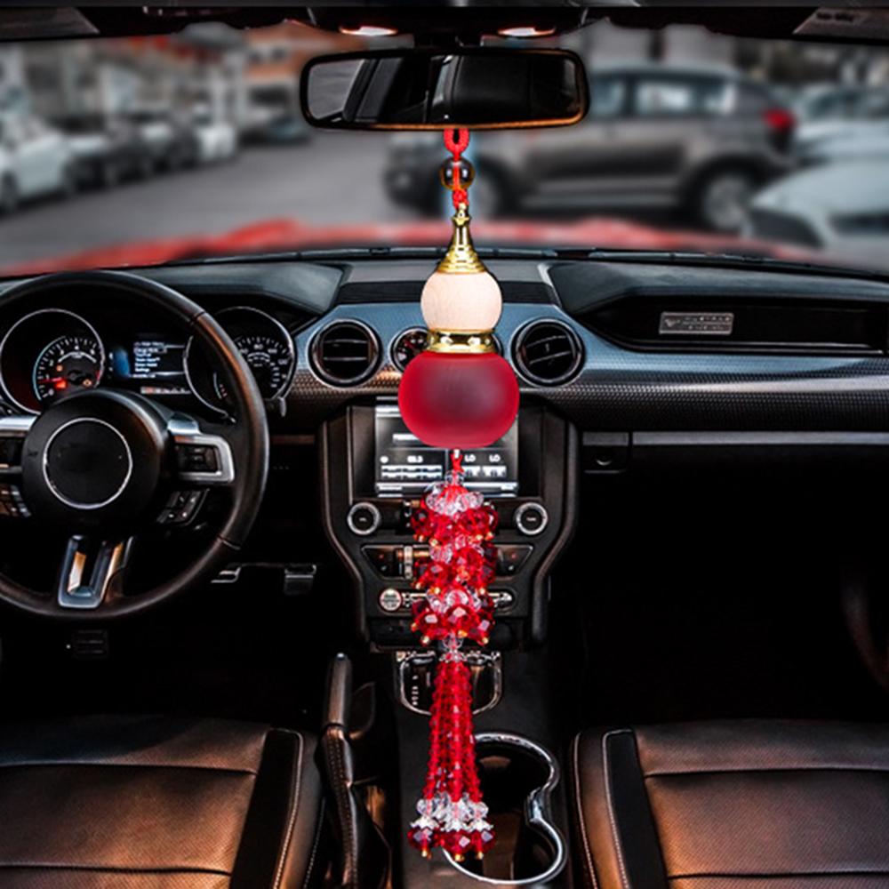 [해외]자동차 향수 펜던트 조롱박 향기 공기 청정기 자동 후면보기 미러 트림 장식 액세서리 기관총 에센셜 오일 선물/Car Perfume Pendant Gourd Fragrance Air Freshener Auto Rearview Mirror Trim Decoratio