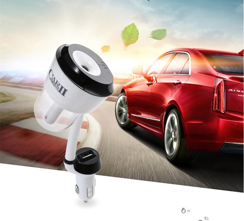 [해외]1 조각 12V 자동차 스타일링 인테리어 자동 가습기 아로마 에센셜 오일 디퓨저 공기 정화 Aroma2 USB 자동차 충전기/1 Piece 12V Car Styling Interior Auto Humidifier Aromatherapy Essential Oil