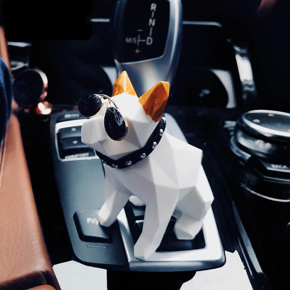 [해외]자동차 공기 청정기 기하학 불독 인형 향수 시트 자동차 인테리어 향수 냄새 기관총 홈 가구/Car Air Freshener Geometric French Bulldog Doll Perfume Seat Automobiles Interior Fragrance Sce