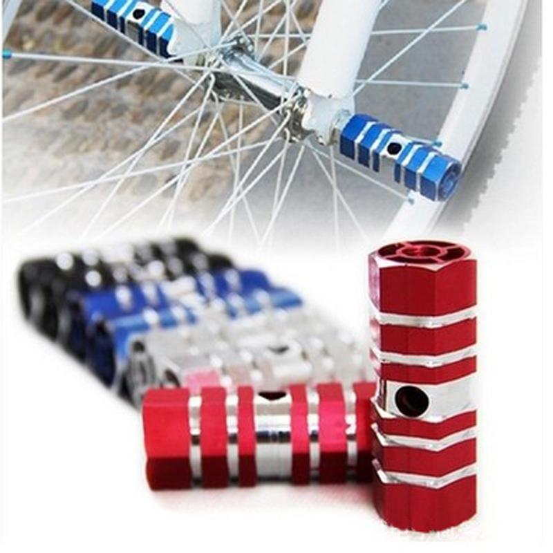 Mtb 페달 알루미늄 합금 풋 스탠드 스턴트 페그 마운틴/로드 자전거 프론트 리어 휠 축 액슬 페달 자전거 액세서리