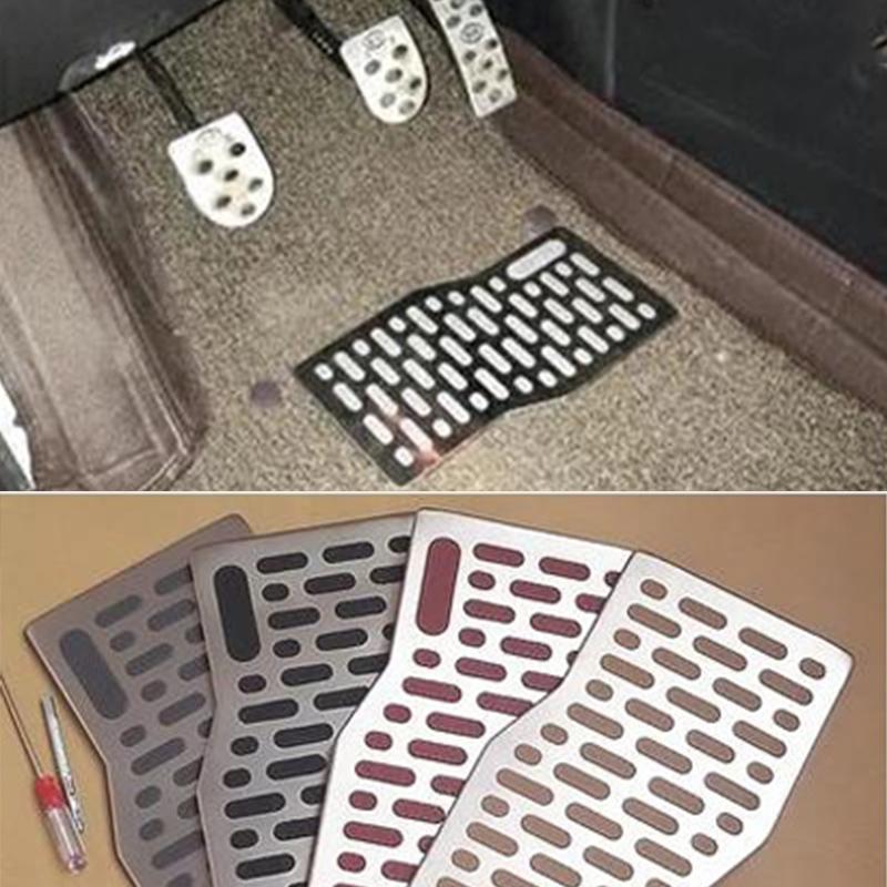 [해외]자동차 바닥 매트 카펫 자동 알루미늄 패드 플레이트 페달 발 받침대 BMW 용 e46 e39 e90 e60 e36 f30 2008 2009 2010 2011 2012-2017/Car Floor mats Carpet Auto Aluminum Pad Plate Pe