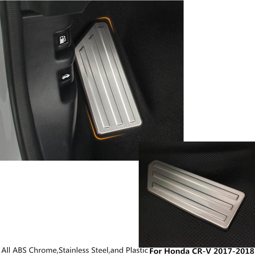 [해외]뜨거운 자동차 커버 스테인레스 스틸 발 가스 / 가솔린 / 오일 브레이크 휴식 페달 몰딩 램프 트림 액세서리 혼다 CRV CR - V 2017 2018에 대한 액세서리/Hot car cover stainless steel foot Gas/petrol/oil Br