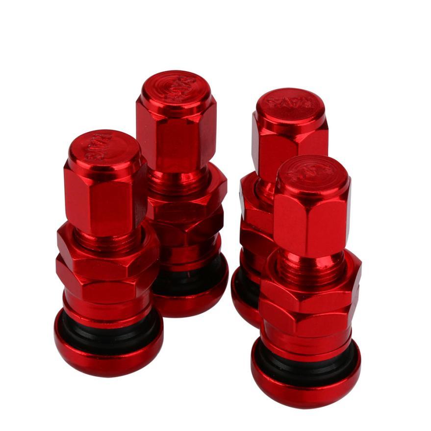 [해외]4pcs 볼트 - 인 알루미늄 자동차 튜브리스 휠 타이어 밸브 스템 쓰레기 캡 Z821 5lower 설정/4pcs Set Bolt-in Aluminum Car Tubeless Wheel Tire Valve StemsDust Caps Z821 5lower