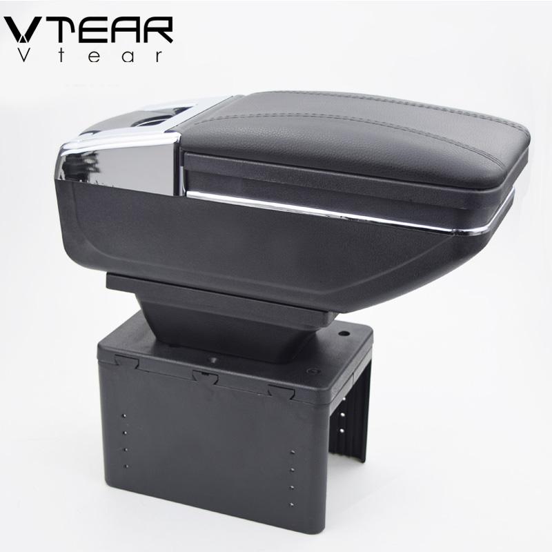 [해외]Vtear 유니버설 카 중앙 컨테이너 팔걸이 상자 PU 가죽 자동차 자동차 스타일링 중앙 저장소 내용 상자 컵 홀더 액세서리/Vtear universal car central container armrest box PU Leather auto car-stylin