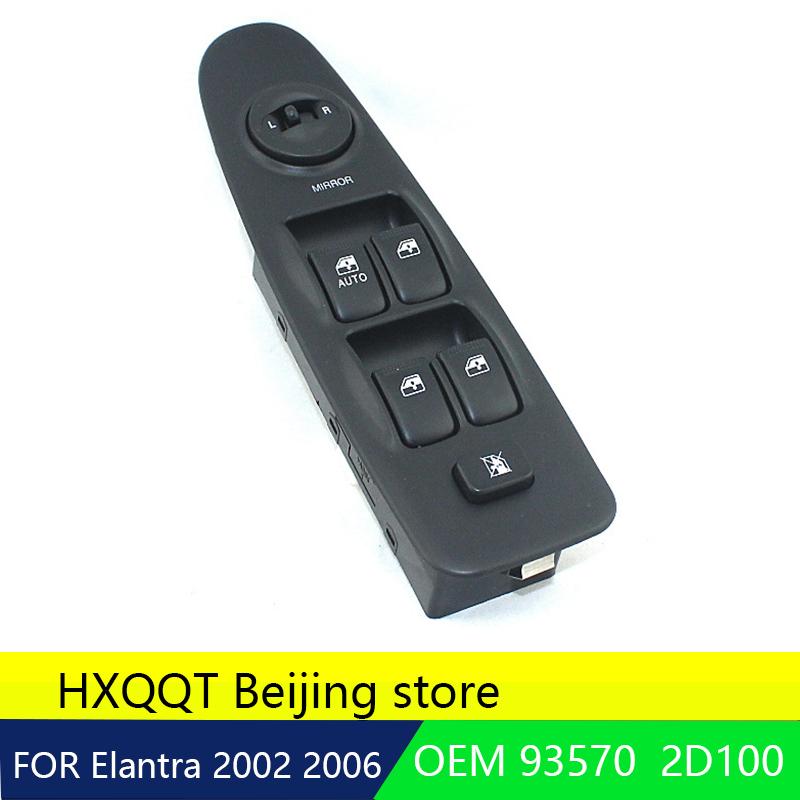 [해외] 현대 Elantra 2002-2006 용 앞 좌측 드라이버 사이드 마스터 파워 윈도우 스위치 OEM 93570 2D100AX 2003 2004 2005NEW 1pc/Genuine For Hyundai Elantra 2002-2006 Front Left Driv