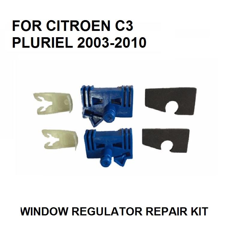 [해외]CITROEN C3 PLURIEL WINDOW REGULATOR 수리 키트 2/3 용 도어 - 앞면 왼쪽 및 오른쪽 2003-2010 NEW/CAR PARTS FOR CITROEN C3 PLURIEL WINDOW REGULATOR REPAIR KIT 2/3 -