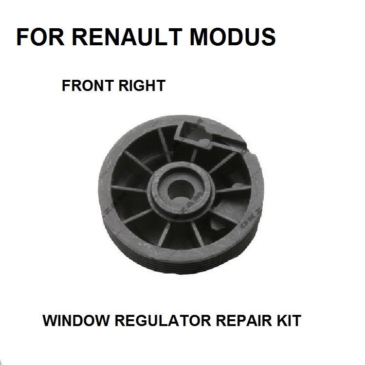 [해외]RENAULT MODUS WINDOW REGULATOR PULLEY ROLLER 전방 우측 수리 키트 용/FOR RENAULT MODUS WINDOW REGULATOR PULLEY ROLLER FRONT RIGHT REPAIR KIT NEW