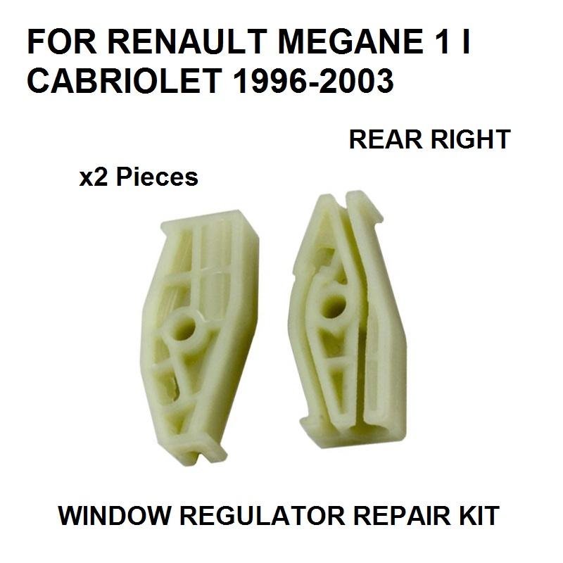 [해외]RETAULT MEGANE I 2 CABRIOLET WINDOW REGULATOR REPAIR CLIP에 대한 2 차원 플라스틱 부품 1996-2003 REAR-RIGHT NEW/2 PLASTIC PIECES 1996-2003 FOR RENAULT MEGANE