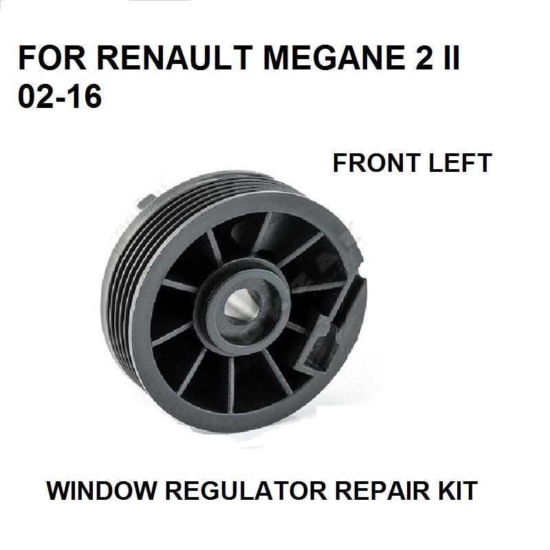 [해외]2002-2016 RENAULT MEGANE 2 II 윈도우 레귤레이터 PULLEY ROLLER FRONT LEFT 수리 키트 NEW/2002-2016 FOR RENAULT MEGANE 2 II WINDOW REGULATOR PULLEY ROLLER FRONT