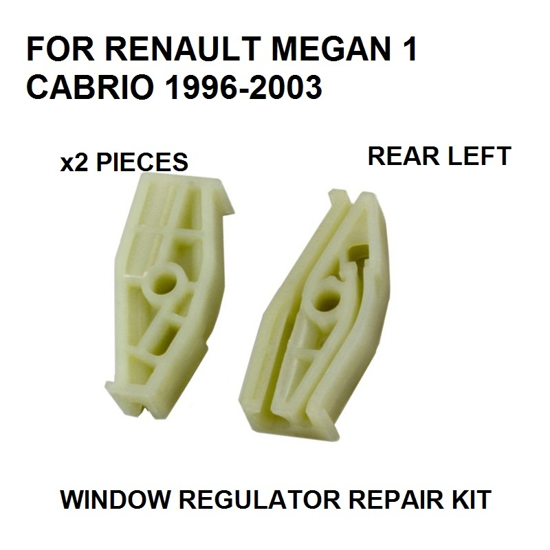 [해외]x2 플라스틱 조각 1996-2003 년 르네상스 메간 I 1 CABRIOLET WINDOW REGULATOR REPAIR CLIP REAR-LEFT/x2 PLASTIC PIECES 1996-2003 FOR RENAULT MEGANE I 1 CABRIOLET W