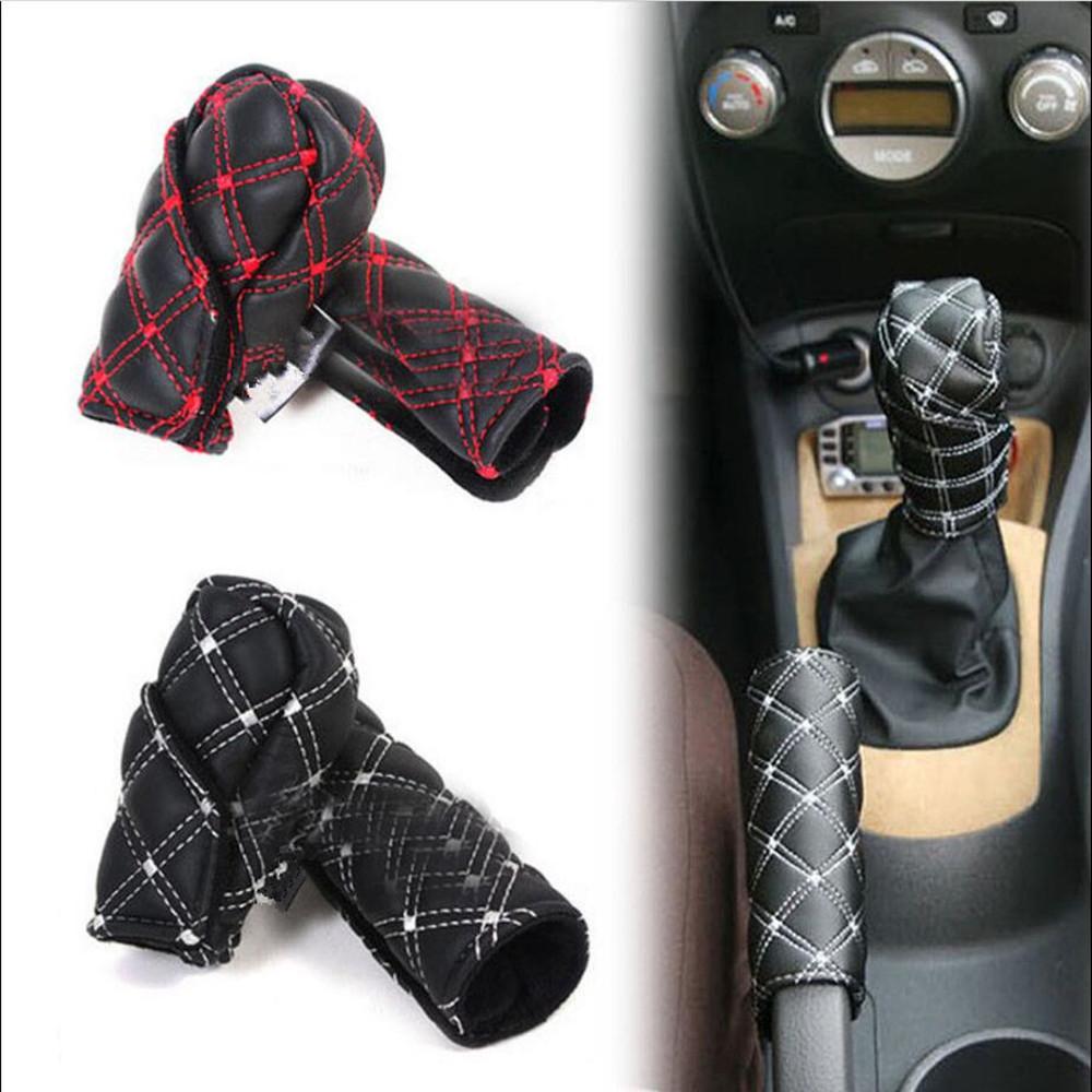 [해외]Taitian 1 세트 범용 자동차 자동차 브레이크 브레이크 변속기 커버 손잡이 손으로 브레이크 보호 액세서리 케이스 슬리브 스틱 미끄럼 방지/Taitian 1 Set Universal Auto Car Handbrake Gear Shift Cover Handle