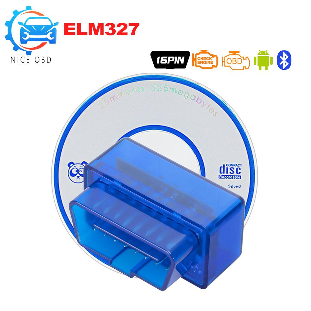 [해외]미니 elm327 블루투스 v2.1 obdii 인터페이스 자동 진단 도구 elm 327 obd2 코드 리더 안 드 로이드/windows 토크 obd 어댑터