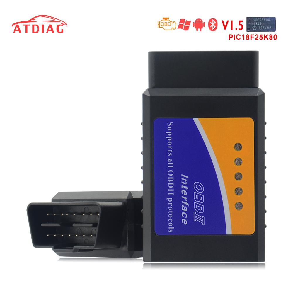 [해외]Elm327 블루투스 OBD2 V1.5 느릅 나무 327 V 1.5 OBD 2 자동차 진단 도구 스캐너 느릅 나무 -327 OBDII 어댑터 자동 진단 도구/Elm327 Bluetooth OBD2 V1.5 Elm 327 V 1.5 OBD 2 Car Diagnos