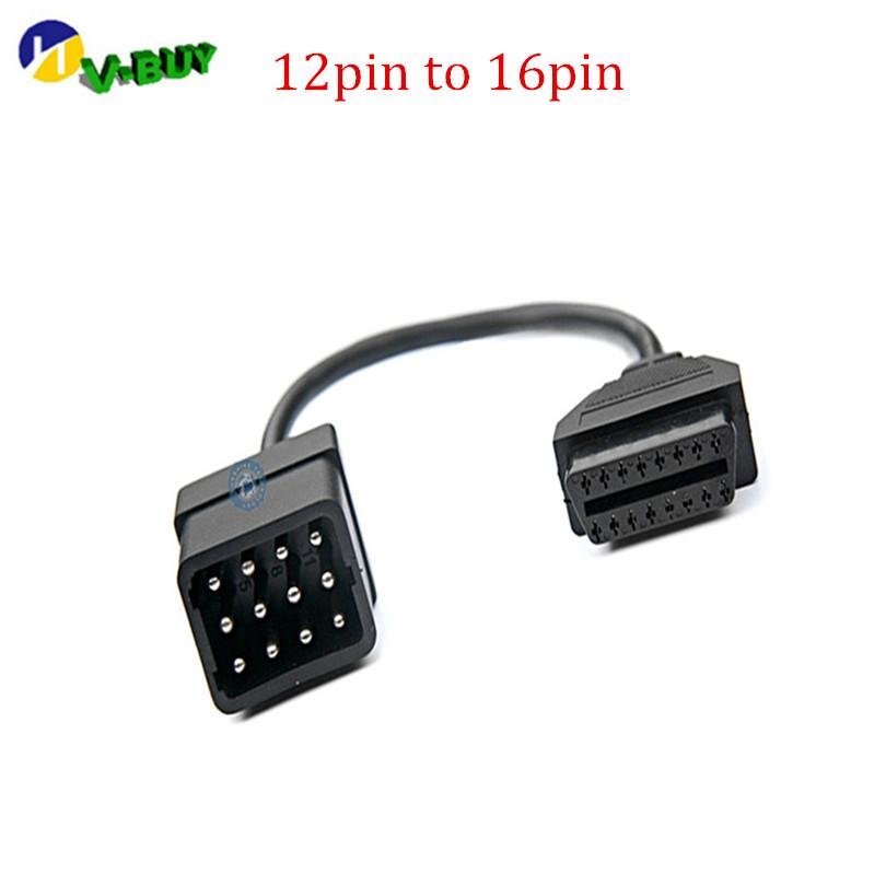 [해외]도매 Rna에 대 한 16 핀 OBD2 여성 진단 어댑터 커넥터 케이블에 12 핀 허용 -u / lt/Wholesall Allowed  12 Pin to 16 Pin OBD2 Female Diagnostic Adaptor Connector Cable For Rn
