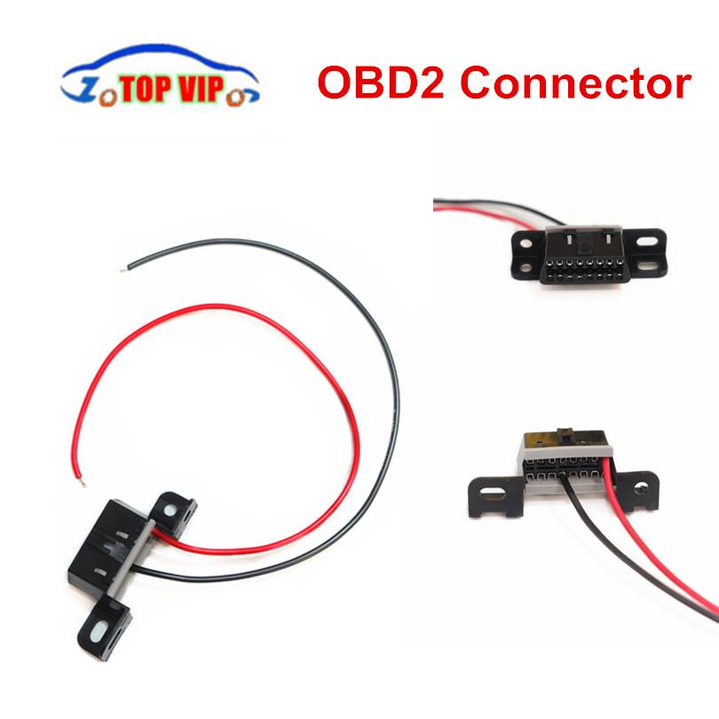 [해외]16pin OBD 여성 각 연결 관 OBD 여성 철사 소켓 연결 관 adaptertwo 케이블 OBD2 진단 공용 영역 연결 관/16pin OBD Female angle Connector OBD Female Wire Sockets Connector adapter