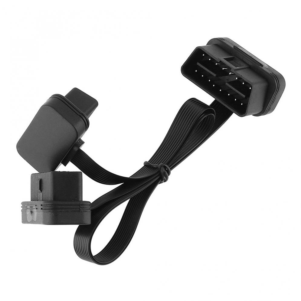 [해외]12V 3 1 OBD-II 16 핀 남성 듀얼 여성 자동차 진단 도구 30 CM Y 분할기 팔꿈치 확장 커넥터 케이블/12V 3 In 1 OBD-II 16 Pin Male to Dual Female Car Diagnostic Tool 30CM Y Splitter