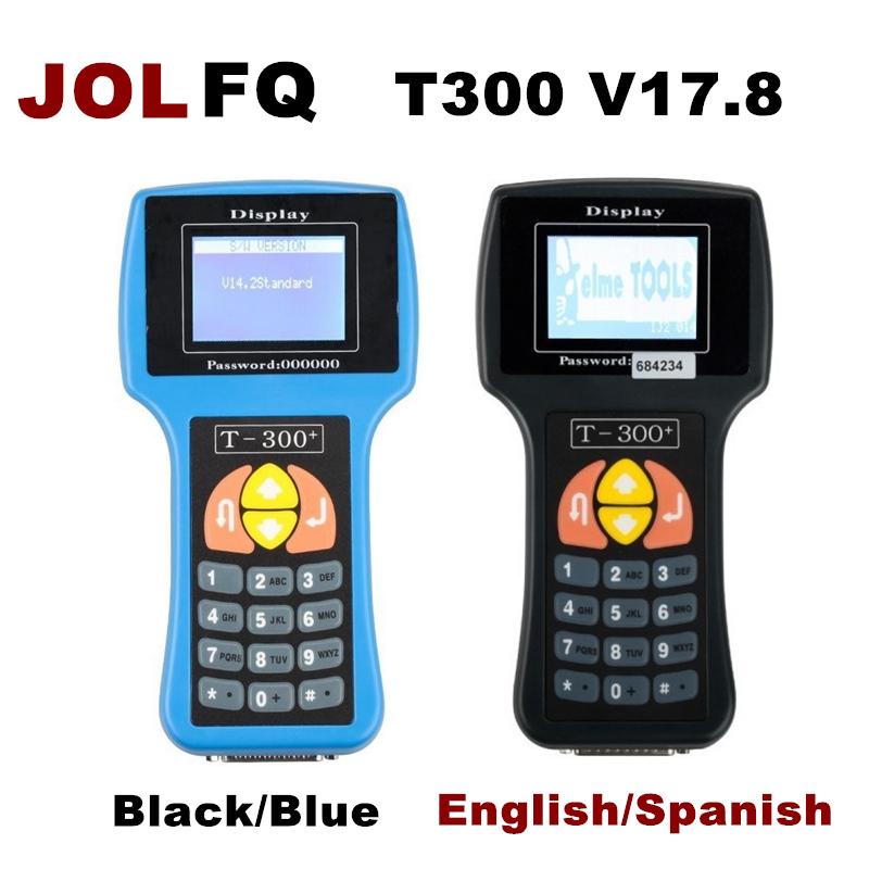 [해외]2018 T300 T300 + 키 프로그래머 영어 스페인어 버전 V17.8 블랙 블루 T300 키 프로그래머 T300 프로그래머 자동 키 프로그래머/2018 T300 T300+ Key Programmer English Spanish Version V17.8 Bl
