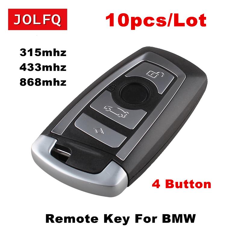[해외]BMW 원격 키 315 / 433 / 868Mhz 용 스마트 카드 원격 키 4 개 BMW F CAS4 5 시리즈 7 시리즈 + 삽입 블레이드 용 4 개 버튼/10pcs  Free For BMW Remote Key 315/433/868Mhz Smart Card R