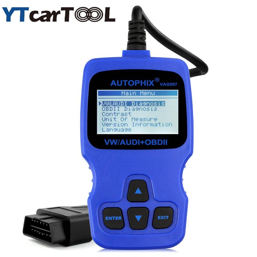 [해외]원래 Autophix VAG007 VAG 007 오일 리셋 / TP 위치 확인 / 브레이크 패드 재설정 기능 OBD2 코드 리더 스캐너 /Original Autophix VAG007 VAG 007 Oil Reset/TP Position Check/Brake Pa