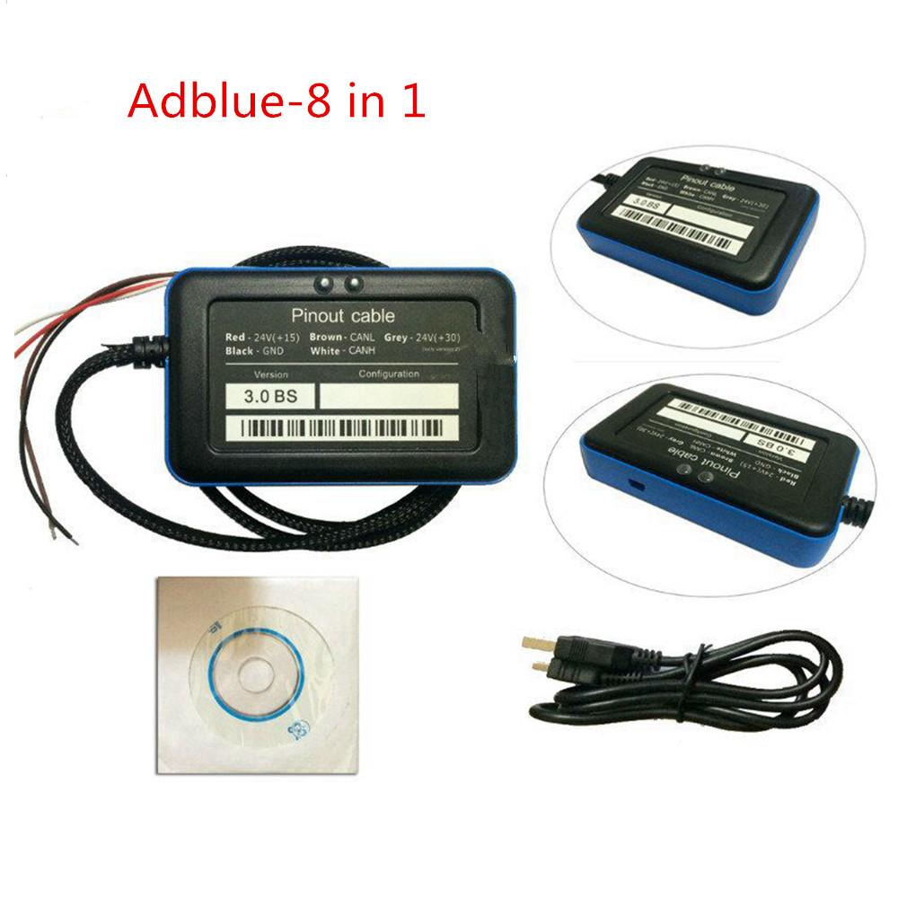 [해외]Euro 6 A + 품질 지원 Adblue Emulator 8 in 1 v3 프로그래밍 어댑터 V3.0NOx 센서 8in1/support Euro 6 A+quality Adblue Emulator 8 in 1 v3Programing Adapter V3.0NOx