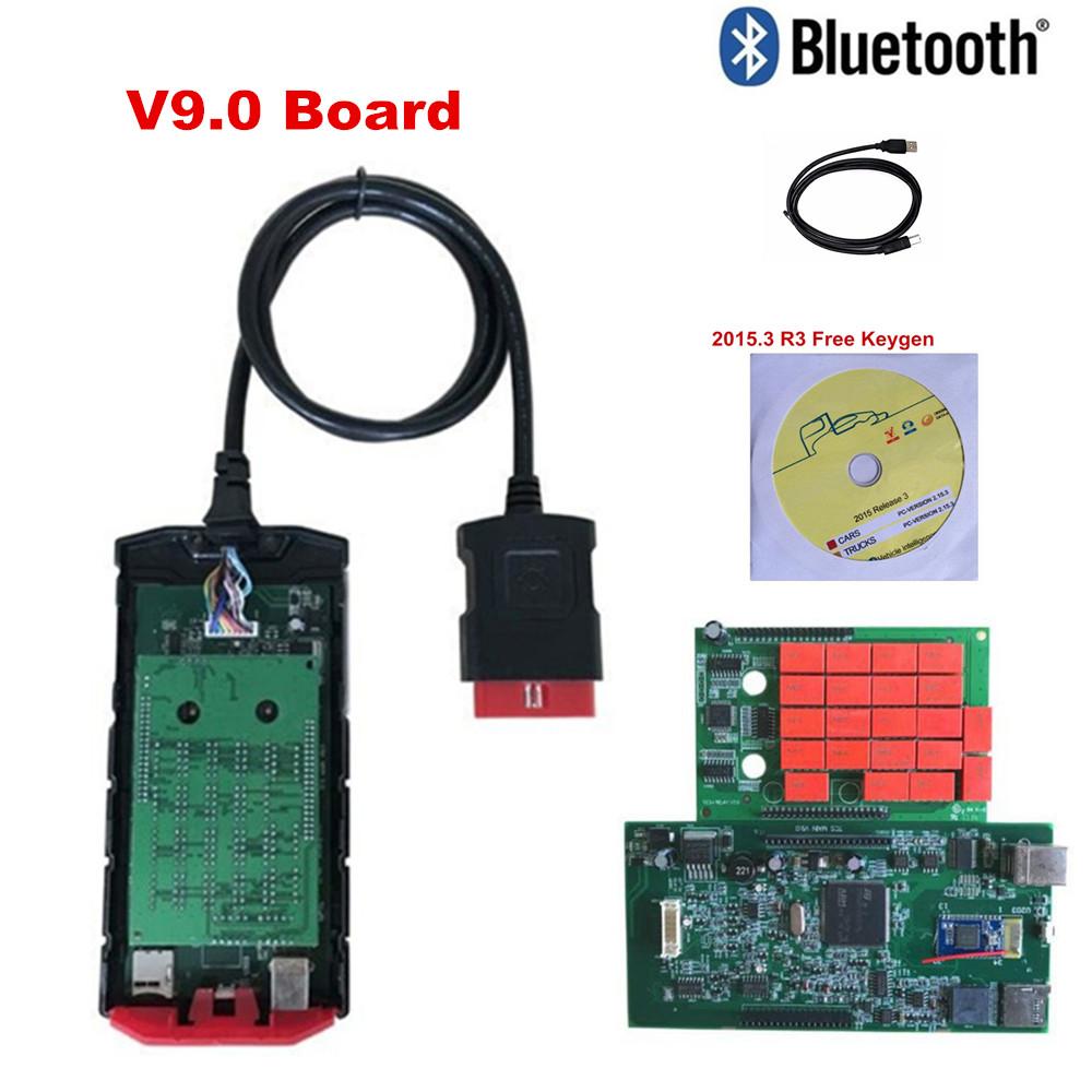 [해외]새로운 vci v9.0 빨간색 RelayBluetooth 2015r3 소프트웨어 Obd2 ScanTcs Cdp 프로 플러스 자동차 트럭 진단 도구/New vci v9.0 Red RelayBluetooth 2015r3 Software Obd Obd2 ScanTcs