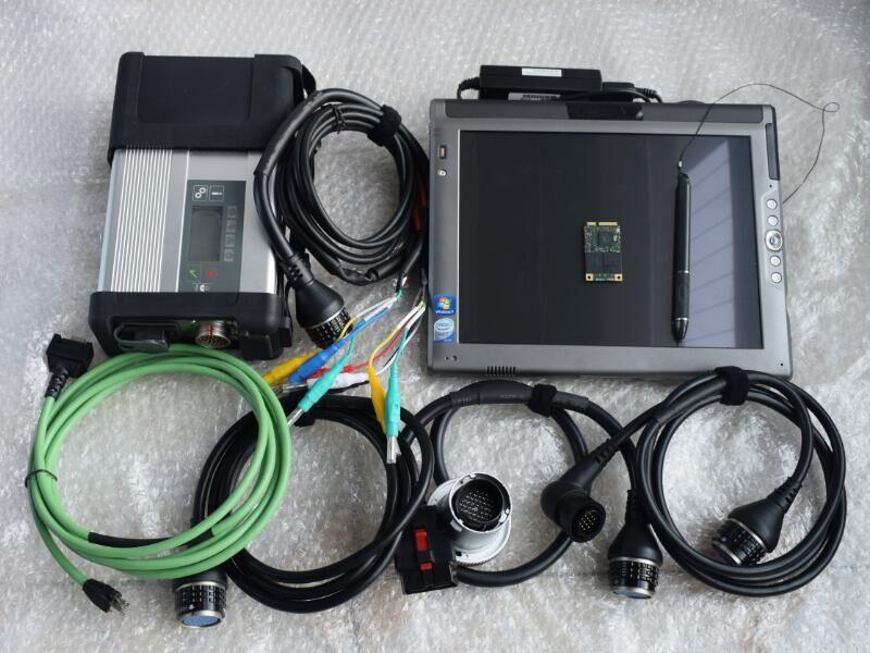[해외]2018 최고의 품질 Sd Connect C5 wifi 멀티 언어 4GB LE1700 터치 노트북 사용 벤츠 별 진단용/2018 Best Quality Sd Connect C5 wifi multi language4GB LE1700 touch Laptop Read