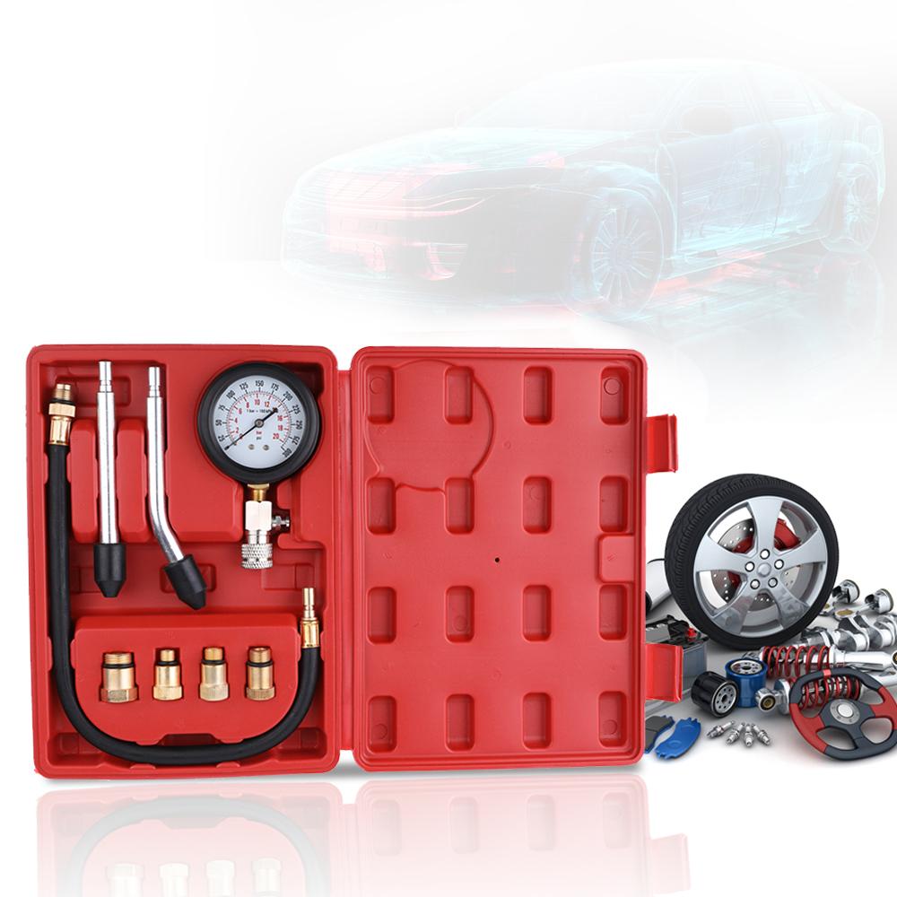 [해외]가솔린 엔진 압축 시험기 자동 가솔린 가스 엔진 실린더 자동차 압력 게이지 테스터 자동차 테스트 키트 0-300psi/Gasoline Engine Compression Tester Auto Petrol Gas Engine Cylinder Automobile Pr