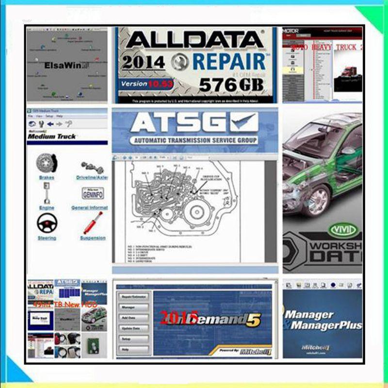 [해외]Alldata 및 mitchell 소프트웨어 Alldata 자동 수리 소프트웨어 mitchell ondemand 2015 생생한 워크샵 데이터 atsg elsawin 49in 1tb hdd/Alldata and mitchell software Alldata au
