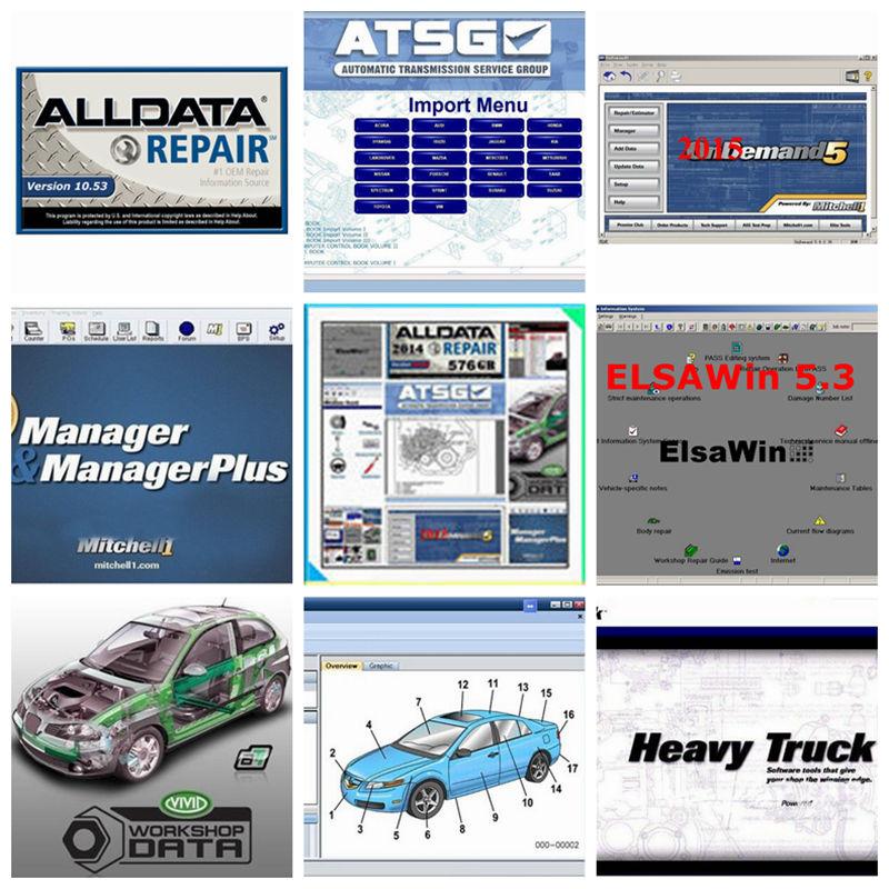 [해외]2018 최고의 품질 Alldata Auto Repair Software 모든 데이터 10.53 + Mitchell on demand5 2015V + Atsg 수동 데이터 + Vivid 1tb hdd/2018 Best Quality Alldata Auto Rep